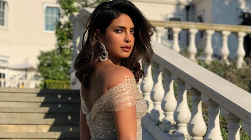 Priyanka Chopra at Prince Harry and Meghan Markle's wedding reception.