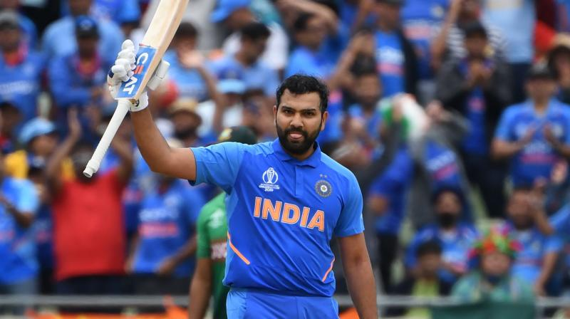 Rohit has bridged the gap from 51 points to only six after becoming the first batsman to score five centuries in the single edition of the World Cup. (Photo: AFP)