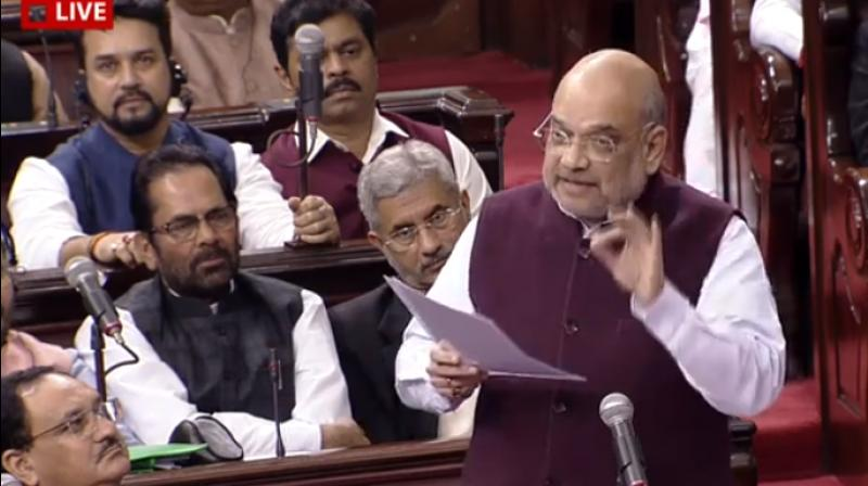 Shah was responding to concerns around security cover to members of the Gandhi family during an acrimonious debate on the amendment to the SPG. (Photo: ANI)