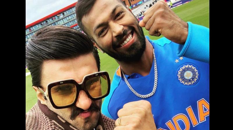 Ranveer used the phrase with a minor change while posting a selfie with Hardik Pandya on Twitter. (Photo: Ranveer Singh/Twitter)