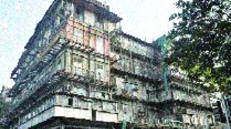 The dilapidated Esplanade Mansion.