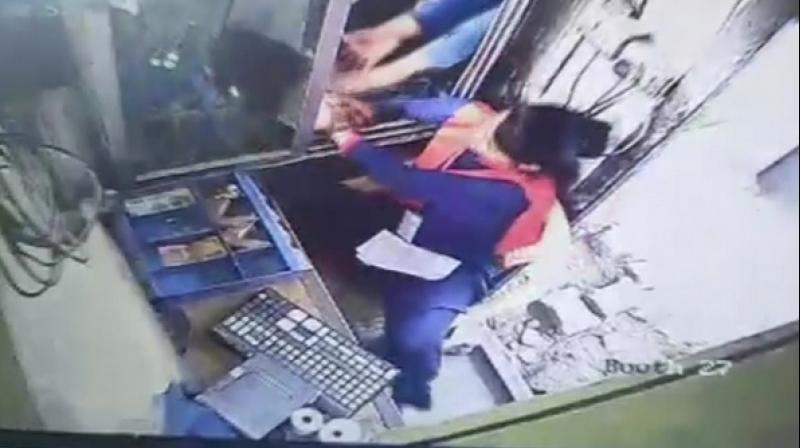 The female toll plaza employee was sitting in booth number 27 when at around 9 am a black SUV approached the toll gate. (Photo: ANI)