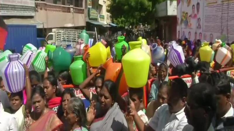 The locals too have expressed anger towards the state government. (Photo: ANI)