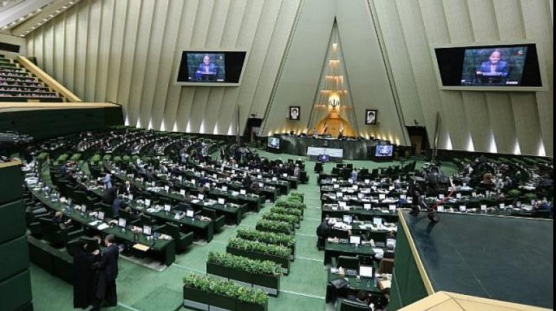Iranian lawmakers chanted 'Death to America' during a parliament session on Sunday after a speaker accused the United States of being the 'real world terrorist', amid escalating tension with Washington following the downing of an unmanned US drone. (Photo: AFP)