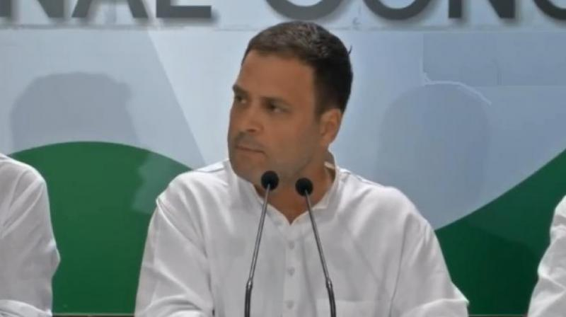 The Congress chief had in Amethi on Monday demanded answers from Prime Minister Modi on several issues related to the Rafale deal. (Photo: File)