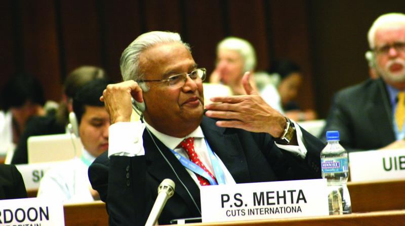 Pradeep Mehta at an Unctad meeting in Geneva