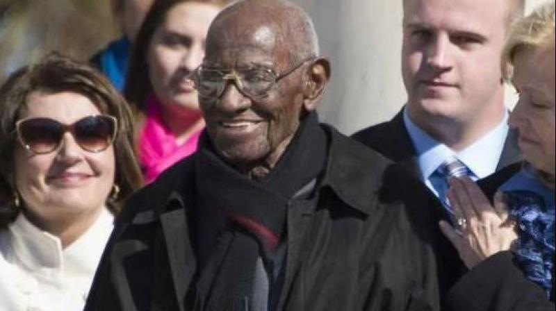 Overton's longevity and his status as the oldest living American veteran of World War II made him a celebrity of sorts over the past few years. (Photo: AFP)