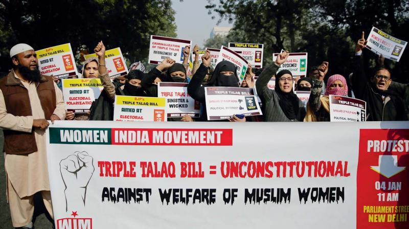 The bill also renders Talaq-e-Biddat the status of a cognisable offence that empowers police to arrest the offender without requiring a warrant. (Photo: Representational image)