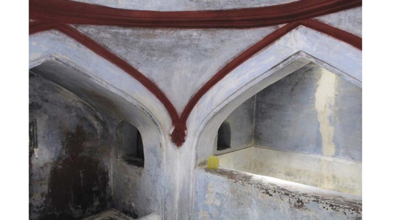 The hammam where visitors get a steam batch before massage with  various scented oils.