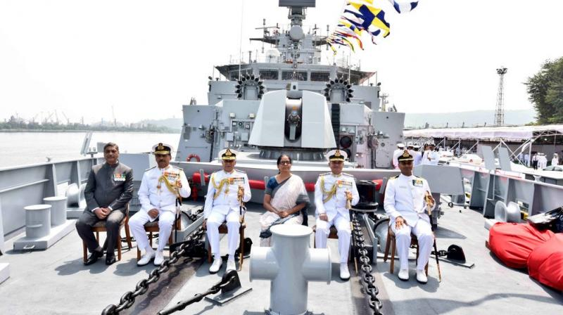 INS Kiltan is also the first major warship to have undertaken sea trials of all major weapons and sensors as a pilot project and is ready to be operationally deployed on the day of joining the Indian Navy. (Photo: Twitter/@DefenceMinIndia)