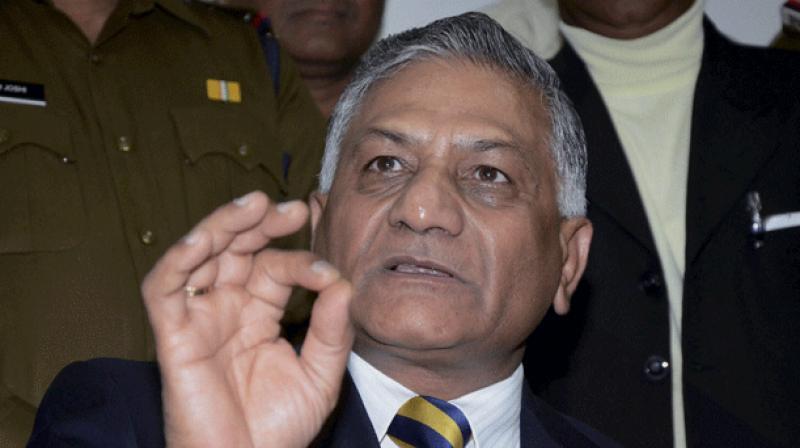 Former army chief VK Singh. (Photo: File)
