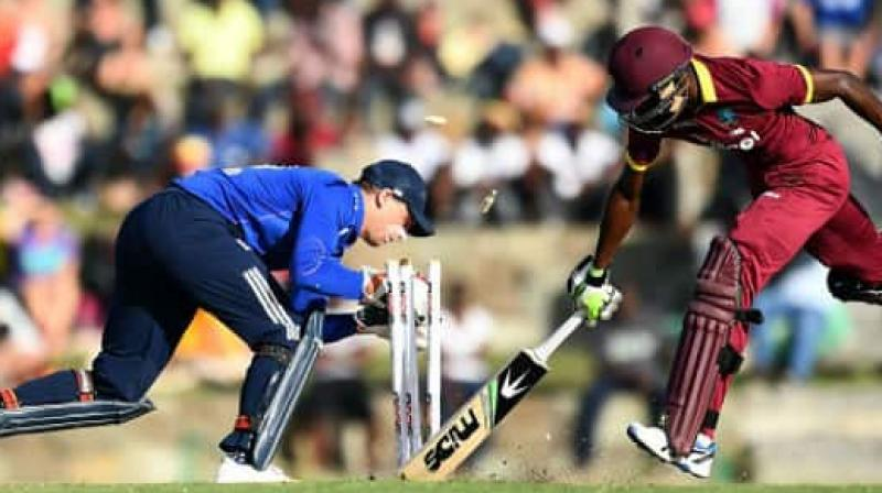 England has played three matches so far and in those, they have recorded two wins and one loss. On the other hand, West Indies has won one match and lost one. (Photo:AFP)