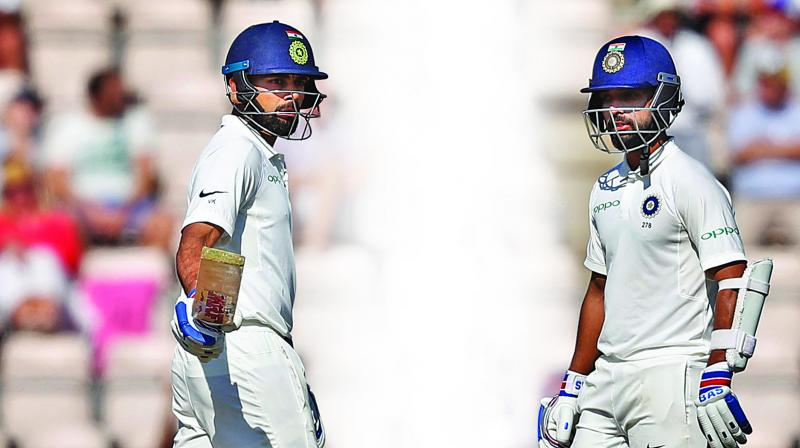 Virat Kohli and Ajinkya Rahane shared 101 runs for the fourth wicket. (Photo: AP)