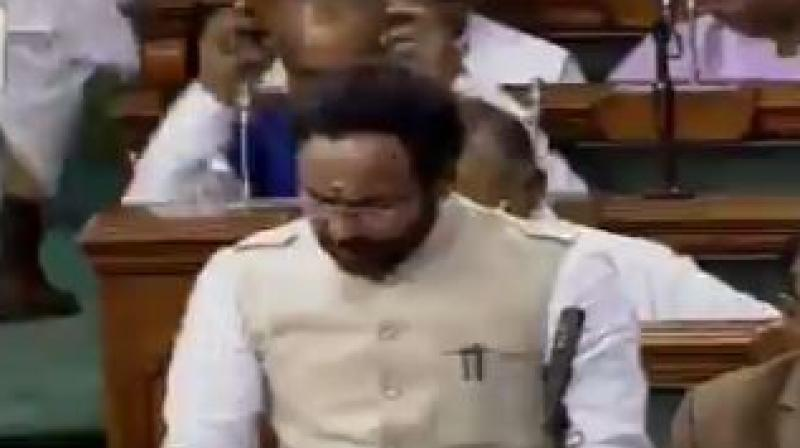 Union minister of State for Home G Kishan Reddy said in Rajya Sabha that the central government is committed to take all necessary steps to protect the borders of the country and maintain its integrity and sovereignty. (Photo: Twitter | LSTV)