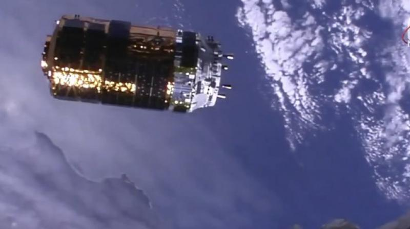 Spacewalking astronauts will help install the batteries in October. (Photo: AP)