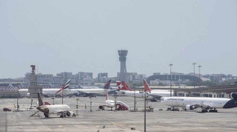 Planes parked on the tarmac at the Mumbai International Airport. (PTI)