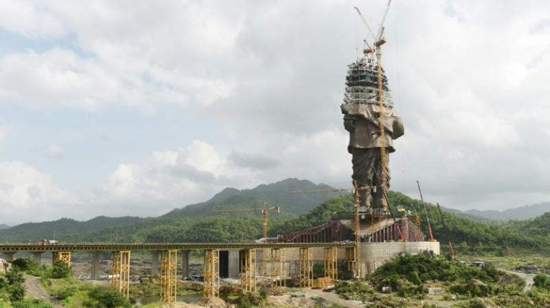 A 182-metre-high (600-foot-high) tribute to independence icon Sardar Vallabhbhai Patel in Gujarat state will be the first to dwarf the Spring Temple Buddha in China, currently the world's biggest statue at 128 metres (420 feet) in height. (Photo: AFP)