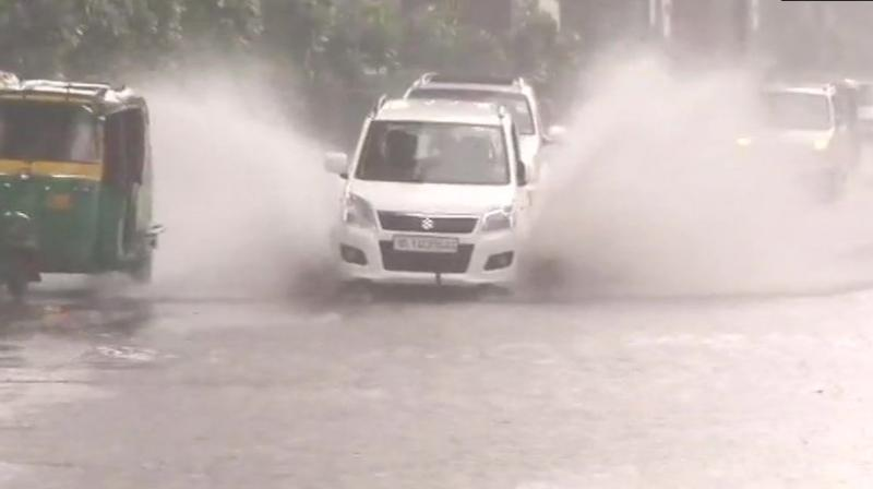 Delhi has received 35.9 mm rainfall in last 24 hours and the weatherman predicted the downpour to continue throughout the day. (Photo: Twitter | @ANI)