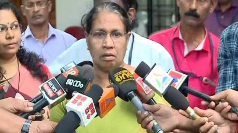 Kerala women's panel chief MC Josephine made it clear that it cannot register a case on its own. (Photo: ANI)