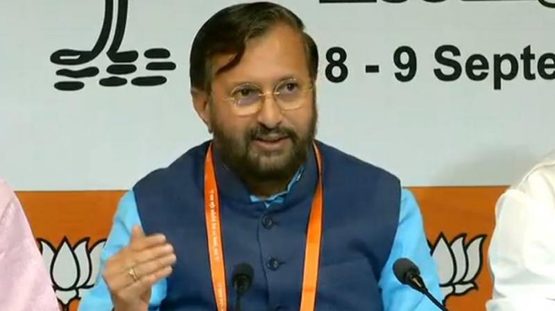 Union minister Prakash Javadekar said a lot of developmental work has been done in the last four years, and a New India will be formed by 2022. (Photo: Twitter | @BJP4India)