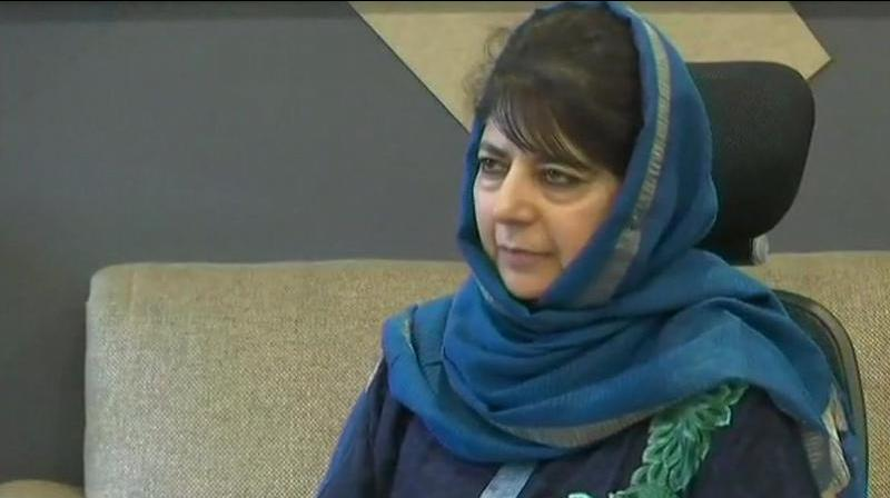 Lashing out at PDP chief Mehbooba Mufti for allegedly instigating people to defy a ban of vehicular movement on the national highway connecting Jammu with Srinagar, the BJP Wednesday demanded that she be arrested for trying to create law and order problem. (Photo: File)