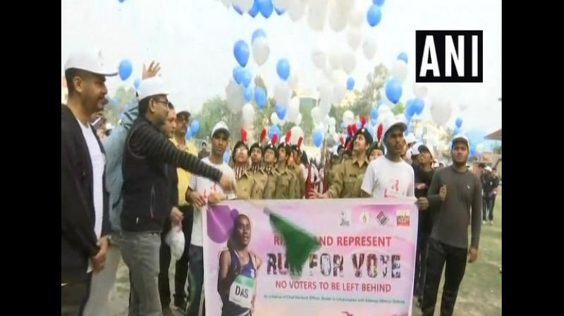 'Run for Vote' campaign organised in Assam. (Photo: ANI)