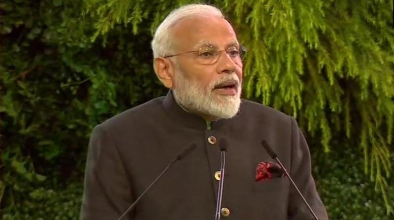 The Prime Minister was speaking at an event to mark golden jubilee of the Aditya Birla Group's presence in Thailand. (Photo: Twitter/ ANI)