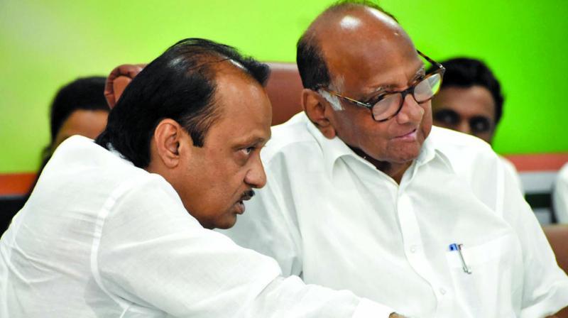 NCP chief Sharad Pawar and  Ajit Pawar (Photo:  Asian Age)