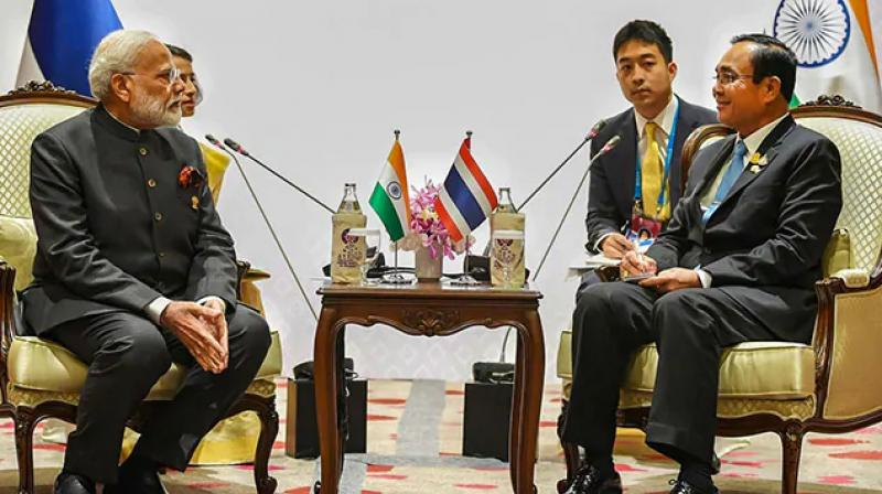 Plans to finalise an Asia-wide trade deal at a summit in Bangkok this weekend were uncertain after new demands raised by India in the negotiations to create the world's largest trading bloc. (Photo: Twitter/ MEA)