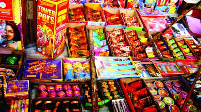 The Centre said manufacture, sale and use of joined-firecrackers (series crackers) might be banned as the same causes huge air, noise and solid waste problems. (Representational Image)