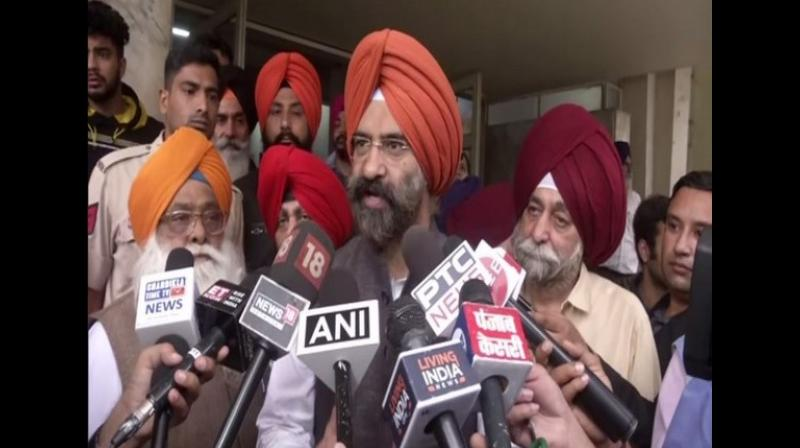 'Navjot Singh Sidhu has his own thinking. Dr Manmohan who is a Sikh said that he will go there from India's side. Had Pakistan invited us, we would definitely go there but from India's side. We would not go from Pakistan's side because we have to care of our religion and the country's dignity,' Sirsa told reporters when asked about Pakistan giving visa to Sidhu. (Photo: ANI)