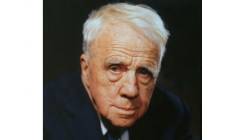 A file photo of Robert Frost, a four-time Pulitzer Prize winner