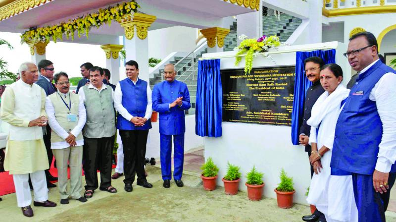 The Vipassana Centre was inaugurated on Friday, in the presence of chief minister, among others. (Photo: PTI)