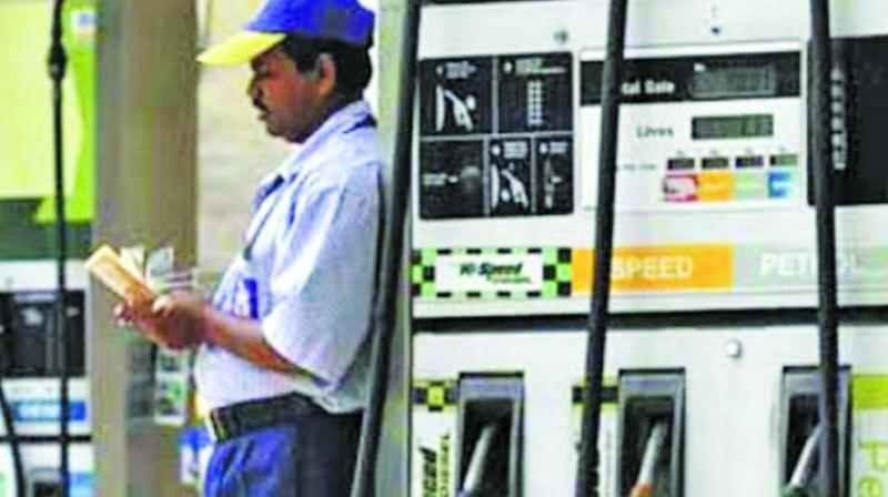 Fuel prices once again witnessed a hike on Thursday, with petrol being sold at Rs.79.51 per litre and diesel at Rs.71.55 per litre here in the national capital.