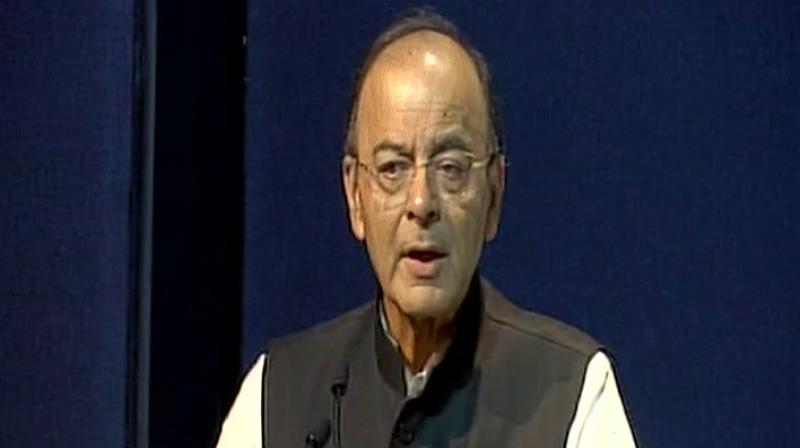 Finance Minister Arun Jaitley on Wednesday nudged states to cut sales tax or VAT on petrol and diesel to provide further relief to consumers from high fuel prices. Photo: ANI| Twitter