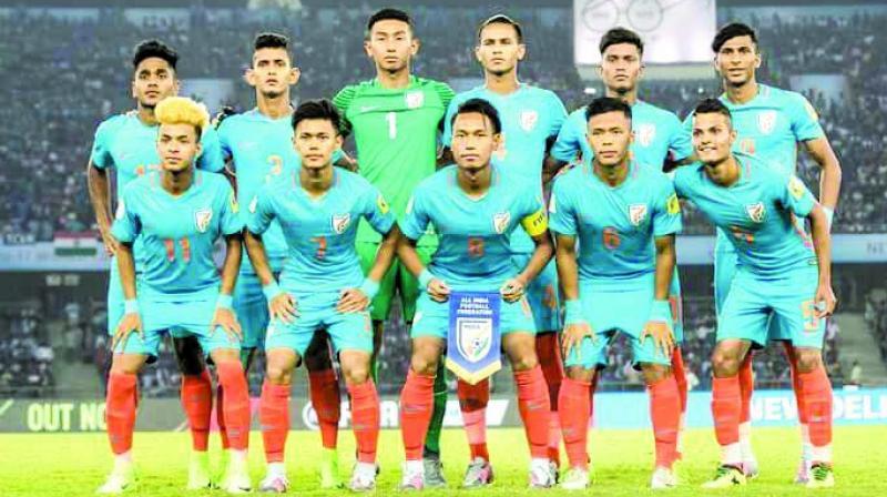 The Indian U-17 football team.