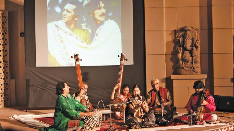 Musicians perform at the three-day RIPMA festival in celebration of the 97th birth anniversary of its founder Pt Ravi Shankar. (Photo: Anshuman Pandey )