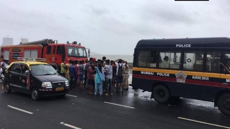 However, Javed, who drowned while saving Shahil, is still missing. A rescue operation is underway by Mumbai Fire Department and Navy personnel to find him out. (Photo: ANI)