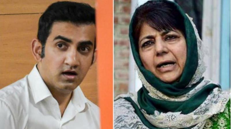 This is not the first time when the two have locked horns over the issue. In April over Article 370, Mufti blocked Gambhir on the micro-blogging website. (Photo: PTI)
