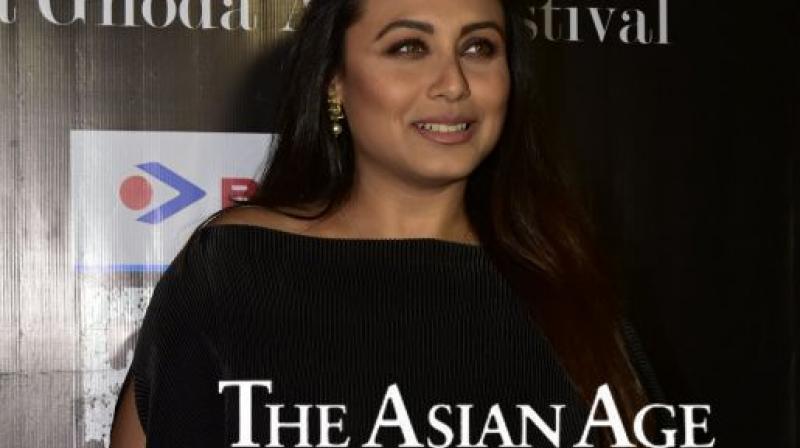 Rani Mukerji promotes 'Hichki'.