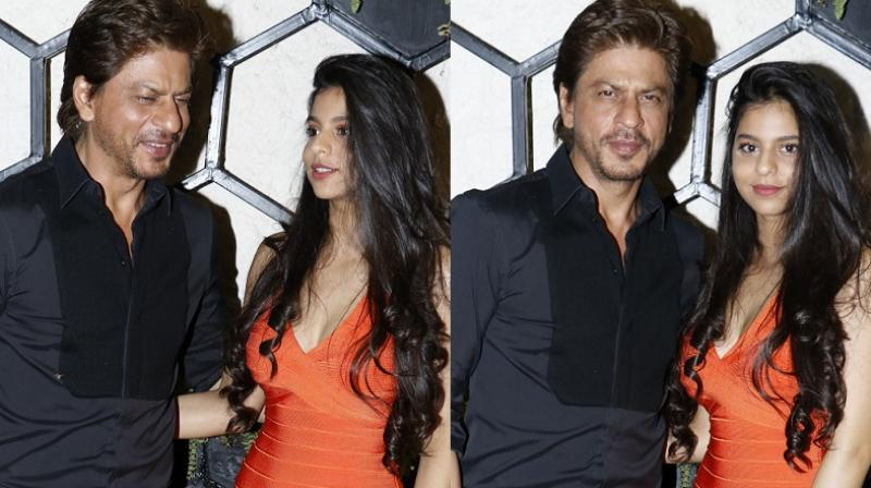 Shah Rukh Khan and Suhana at an event.