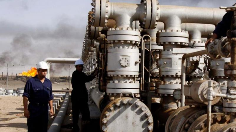 Oil fell on Tuesday, adding to huge declines in the previous session. (AP/AFP Photo)