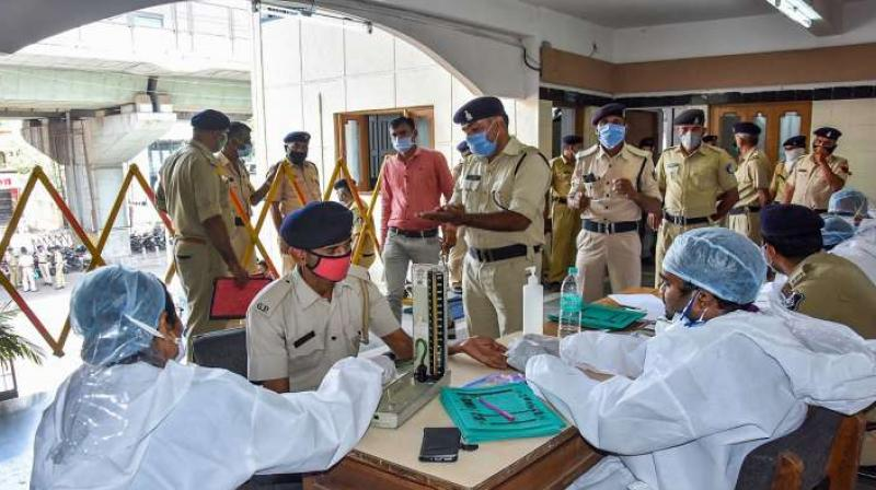 Mumbai Police cops aged above 55 asked to go on leave. (PTI Photo)