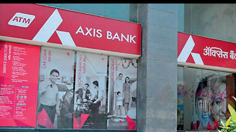 Axis Bank shares drop over 6 pc after Q4 net loss. (PTI Photo)