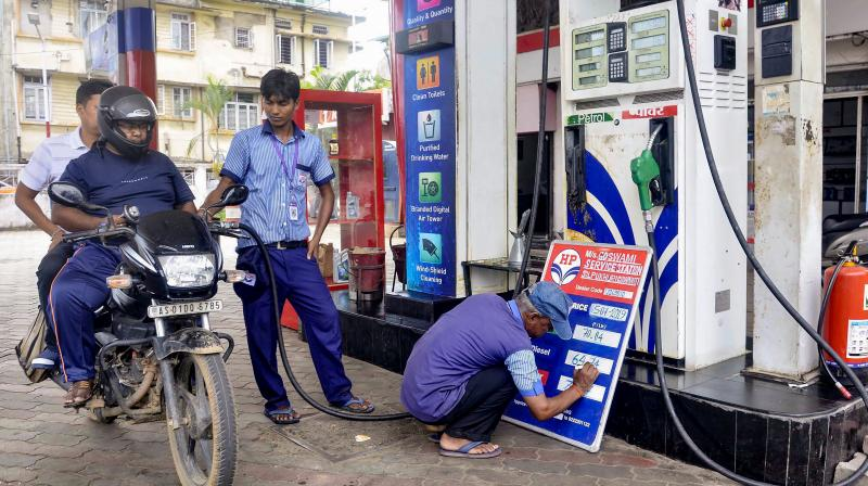 Petrol and diesel prices were frozen soon after the government raised excise duty on the two fuels. (PTI Photo)