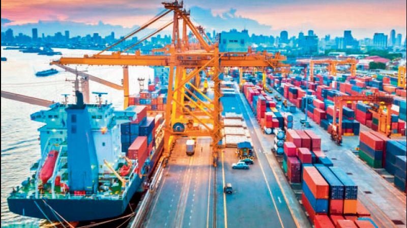 China's exports saw a shock 3.5 percent rise in April . (PTI Photo)
