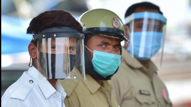 More police, security and health personnel are getting infected by the coronavirus as the total number of cases rises at an alarming rate.(PTI Photo)
