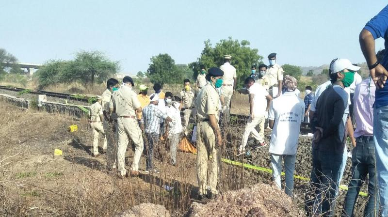 15 migrant workers crushed to death by goods train in Maharashtra. (Photo- Twitter)