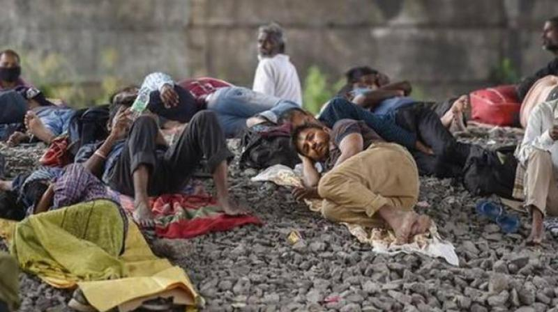 Migrant worker who survived Auranagabad train tragedy traumatized by haunting images. (PTI Photo)