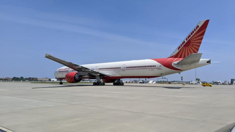 Air India aircraft departed from London's Heathrow airport via Delhi for Bengaluru on Sunday with 323 Indian citizen has landed at Kempegowda International Airport. (DC Photo)
